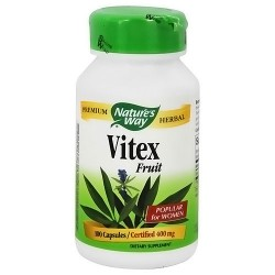 Natures Way Premium Herbal Vitex Fruit 400 mg Capsules - 100 ea
