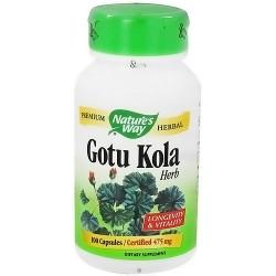 Natures Way Gotu Kola Herb 475 mg Capsules - 100 ea