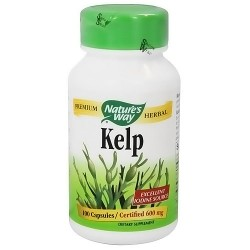 Natures Way Kelp 660 mg Capsules, Premium Herbal - 100 ea