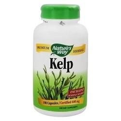 Natures Way Kelp Natural Iodine Source 600 mg Capsules - 180 ea