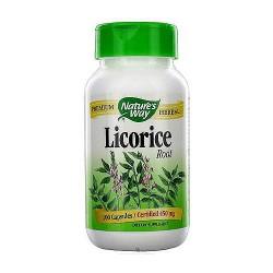 Natures Way Licorice Root Capsules - 100 ea