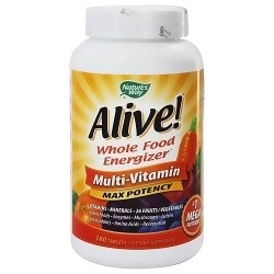Natures way Alive whole food energize multivitamin max potency iron tablets - 180 ea