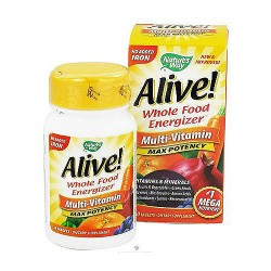 Natures way Alive max potency whole food energizer no iron multi vitamins tablets - 30 ea