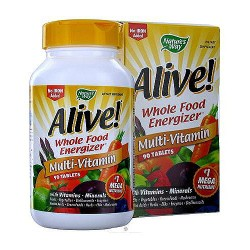 Natures way Alive max potency whole food energizer without iron multi vitamins tablets - 90 ea