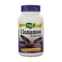 Natures Way Standardized Cinnamon Vegetarian Capsules - 120 ea