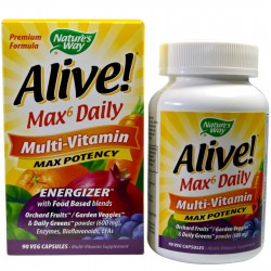 Natures Way Alive whole food energizer multi vitamin capsules - 90 ea
