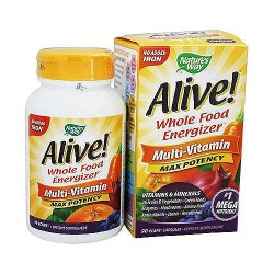 Natures way Alive whole food energizer no iron multivitamin capsules - 90 ea