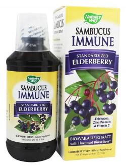Natures Way Sambucus Immune System Lozenges, Elderberry - 30 ea