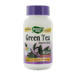 Natures Way Green Tea Standardized Antioxidant Vegetarian Capsules - 60 ea