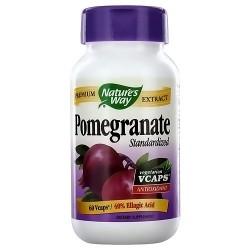 Natures Way Standardized Pomegranate Premium Extract Vegetarian Capsules - 60 ea