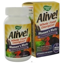 Natures way alive whole food energizer womens multi vitamin tablets - 90 ea