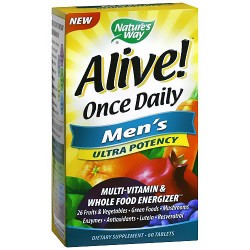 Natures Way Alive Ultra Potency Once Daily Mens Multi-Vitamin Tablets - 60 Ea
