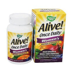 Natures way alive once daily womens ultra potency multi vitamin tablets - 60 ea
