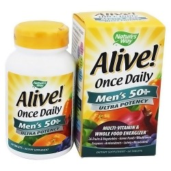 Natures way Alive mens 50 plus ultra potency multivitamin once daily tablets - 60 ea