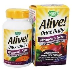 Natures way Alive womens 50 plus multi vitamin ultra potency tablets, daily once - 60 ea