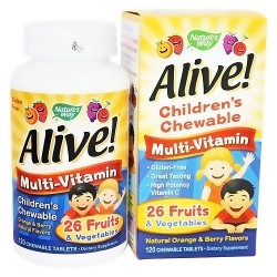 Natures Way Alive Childrens MultiVitamin Chewable Tablets - 120 Ea