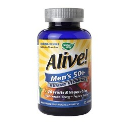 Natures way alive mens 50 plus gummy multivitamin  -  75 ea
