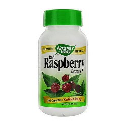 Natures Way Premium Herbal Red Raspberry Leaves Capsules - 100 Ea