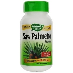 Natures Way Saw Palmetto Berries Premium Herbal Capsules for Men - 100 ea