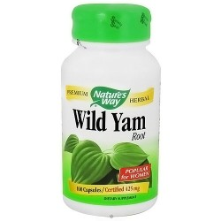 Natures Way Premium Herbal Wild Yam Root Capsules for Women - 100 ea