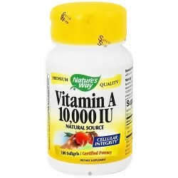 Natures Way Vitamin A 10000 IU Natural Source - 100 Softgels
