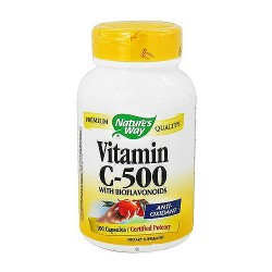 Natures Way Vitamin C-500 Capsules With Antioxidant Bioflavonoids - 100 ea