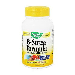 Natures way b-stress formula with siberian eleuthero ginseng capsules - 100 Ea