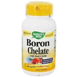 Natures Way Boron Chelate Enhanced Absorption Capsules - 100 Ea
