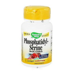 Natures Way Phosphatidyl-Serine 500mg Softgels For Mental Function - 60 ea