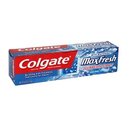 Colgate MaxFresh Fluoride Toothpaste with Mini Breath Strips Whitening Cool Mint   - 3 ea