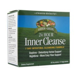 Garden Greens 24 Hour Inner Cleanse 63 Day / 21 Night Tablets - 1 Kit