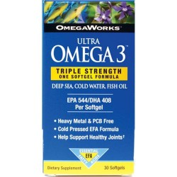 Omegaworks omega 3 ultra omega capsules - 30 ea