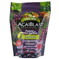 Garden greens acaiblast with pure acai fruit 300 mg soft chews - 30 ea