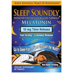 Country farm sleep soundly melatonin 10mg time release - 60 ea