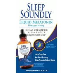 Sleep soundly liquid melatonin 10 mg liquid - 2 oz