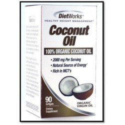 Dietworks coconut oil - 90 ea