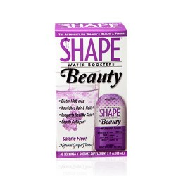 Shape water boosters beauty, natural grape flavor - 2 oz