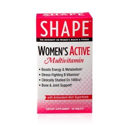 Shape womens active multivitamin tablets - 60 ea