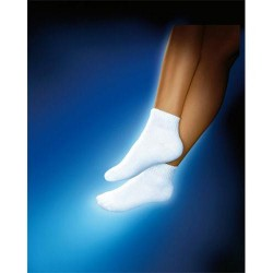 Jobst sensifoot mini crew closed toe socks, white, x large - 1 ea
