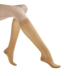 Jobst relief knee high support socks 15-20 mmhg beige  x large closed toe - 1 ea