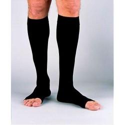 Jobst mens ribbed knee-high compression socks x-large full calf, black - 1 ea