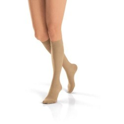 Jobst women's ultrasheer knee-high moderate compression stockings large full calf, natural - 1 ea