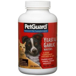 Pet guard yeast and garlic wafers  supplements - 160 ea