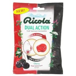 Ricola Dual Action Cough Drops, Cherry - 19 ea, 12 pack