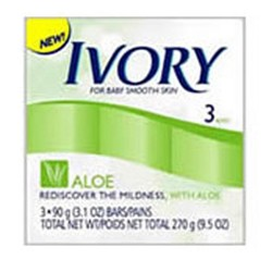 Ivory Soap Bath Bar Aloe -9.5 oz