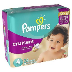 Pampers Cruisers Diapers Size 4 Jumbo Pack - 24 Ea / 6 Pack