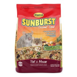 Higgins Premium Pet Foods sunburst gourmet blend for rat/mouse - 2.5lb, 6 ea