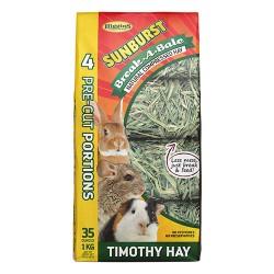 Higgins Premium Pet Foods sunburst b-a-b natural compressed timothy hay - 35 oz, 5 ea