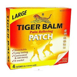 Tiger Balm Pain Relieving Patch, Large - 4 ea, 6 pack