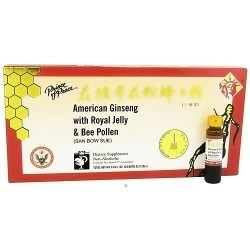 Prince of Peace American Ginseng with Royal Jelly and Bee Pollen - 10 ea